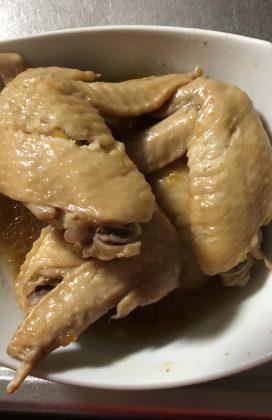 片麻痺の料理(手羽先のマーマレード煮)