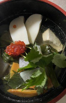 片麻痺の料理(お雑煮)