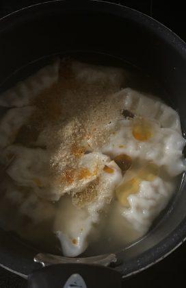 片麻痺の料理(水餃子)